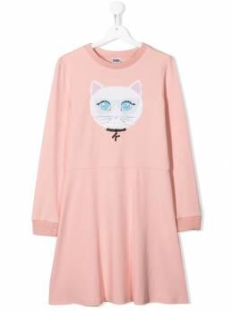 Karl Lagerfeld Kids - платье Choupette с пайетками 90055R95508303000000