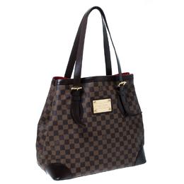 Louis Vuitton Damier Ebene Canvas and Leather Hampstead GM Bag 232034