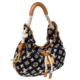 Louis Vuitton Navy Blue Monogram Limited Edition Bulles MM Bag 232186