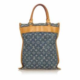 Louis Vuitton Blue Monogram Denim Sac Plat Bag 170377
