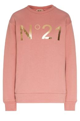Розовый свитшот с золотистым логотипом No. 21 35157738