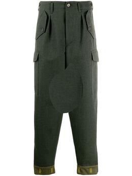 Loewe - зауженные брюки с контрастными вставками 90686OS9533059300000