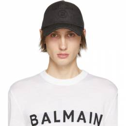 Balmain Black Denim Logo Cap 192251M13900201GB