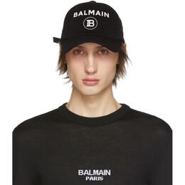 Balmain Black Logo Cap 192251M13900301GB