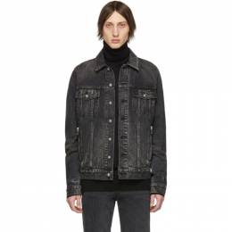 Balmain Black Denim Logo Jacket 192251M17700803GB