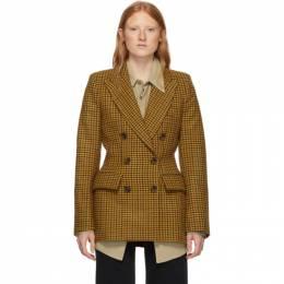 Khaite Yellow Wool Darla Blazer 192914F05700203GB
