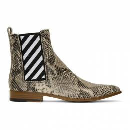 Off-White Off-White Python Chelsea Boots 192607M22300308GB
