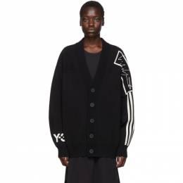 Y-3 Black U Tech Knit Cardigan 192138F09500102GB