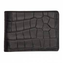 Dries Van Noten Black Croc Wallet 192358M16400801GB