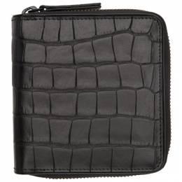 Dries Van Noten Black Croc Zip Wallet 192358M16400701GB