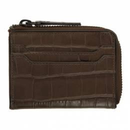 Dries Van Noten Brown Croc Zip Wallet 192358M16401101GB
