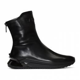 Balmain Black Glove High-Top Sneakers 192251M23600407GB
