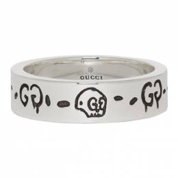 Gucci Silver GucciGhost Ring 201451M14736405GB