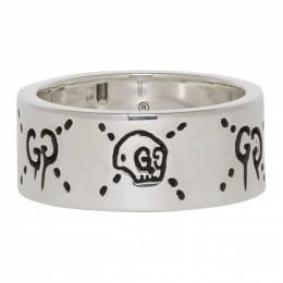 Gucci Silver GucciGhost Ring 201451M14736309GB