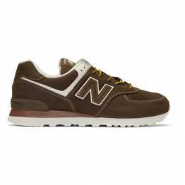 Junya Watanabe Brown New Balance Edition 574 Steer Sneakers 192253M23700205GB