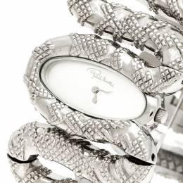 Roberto Cavalli Silver Stainless Steel Cleopatra R7253195515 Women's Wristwatch 40 mm 236145