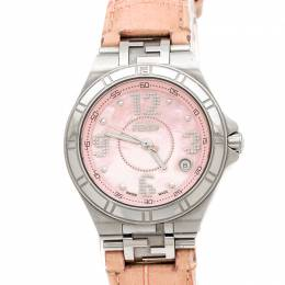 Fendi Pink Mother of Pearl Stainless Steel High Speed 4600M Women's Wristwatch 34 mm 236030