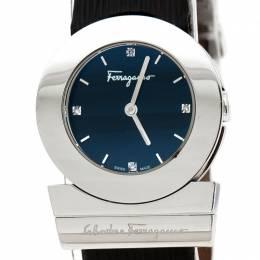 Salvatore Ferragamo Black Stainless Steel Gancino F56 Women's Wristwatch 29 mm 236056