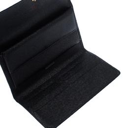 Louis Vuitton Black Epi Leather Porte Tresor Trifold Wallet 235182
