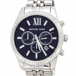 Michael Kors Navy Blue Stainless Steel Lexington MK8280 Men's Wristwatch 45 mm 236019