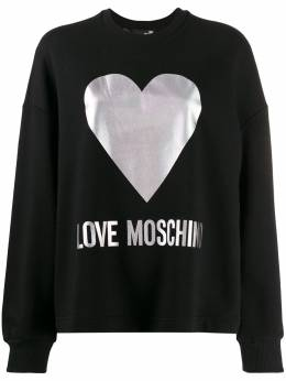 Love Moschino - foil heart print sweatshirt 5565M566895663965000