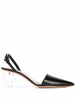 Simone Rocha - floral plexiglas heel pumps P6356955335990000000