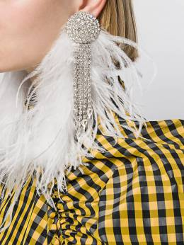 Alessandra Rich - feather embellished earrings A9863955990800000000