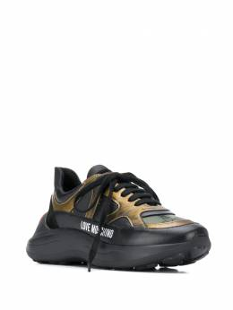 Love Moschino - logo contrast low-top sneakers 5366G98IU39559653900