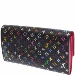 Louis Vuitton Black Multicolor Canvas Sarah Wallet 236131