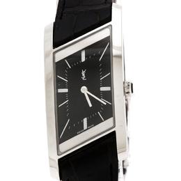Yves Saint Laurent Paris Black Stainless Steel Rive Gauche Women's Wristwatch 24 mm 236041