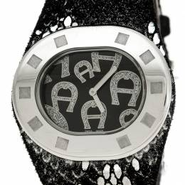 Aigner Black Stainless Steel Ravello Due A21000 Women's Wristwatch 43 mm 236072