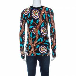 Louis Vuitton Multicolor Abstract Print Stretch Cotton Zip Front Cardigan M 236187