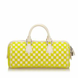 Louis Vuitton Ivory/Yellow Damier Cubic Fabric and Leather Speedy Cube PM Bag 231342