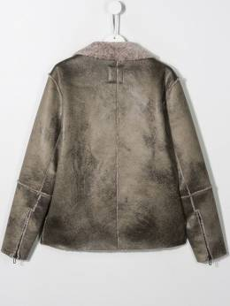 Paolo Pecora Kids - TEEN faux shearling biker jacket 63395665308000000000