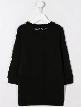 Karl Lagerfeld Kids - платье-толстовка с пайетками 90369B95539955000000