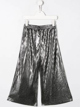 Andorine - плиссированные брюки с эффектом металлик 99969596955000000000