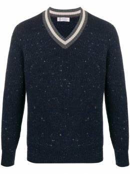 Brunello Cucinelli - ribbed knit v-neck jumper 33360956690330000000