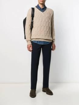 Brunello Cucinelli - cable knit v-neck jumper 59360CJ5969566903600