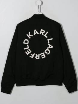 Karl Lagerfeld Kids - contrast panel bomber jacket 65395586689000000000