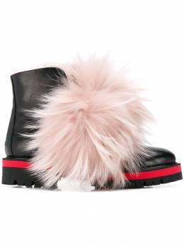 Mr & Mrs Italy - байкерские ботинки с меховой отделкой 68E93003358000000000