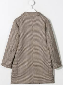 Paolo Pecora Kids - checkered single-breasted coat 60895665865000000000