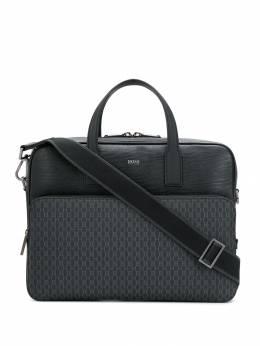Boss Hugo Boss - textured leather laptop bag 99969959933550000000