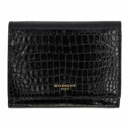 Givenchy Black Croc GV3 Trifold Wallet 192278F04000601GB