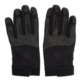 Stone Island Black Logo Gloves 192828M13500303GB