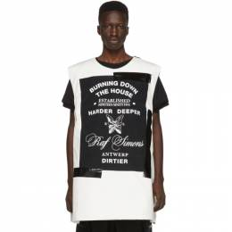 Raf Simons White Templa Edition Oversized Wadded Vest 192287M18500202GB