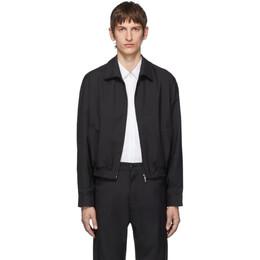 Random Identities Black Zip-Up Jacket 192172M18007104GB