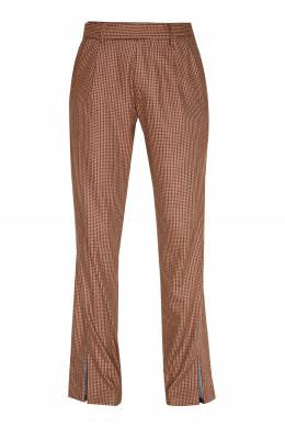Бежевые брюки с рисунком в клетку Unravel Project 2852151886