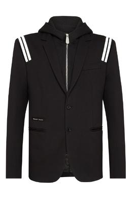 Двухслойный пиджак с полосками Philipp Plein 1795159420
