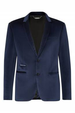 Синий пиджак из бархата Philipp Plein 1795159342