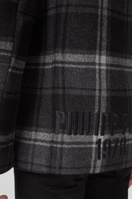 Короткое пальто в клетку Philipp Plein 1795159329
